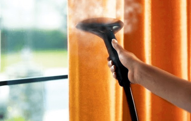 clean your curtains with garment steamer