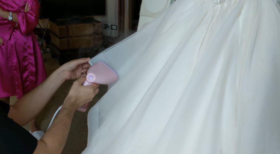 easy way to steam a wedding dress